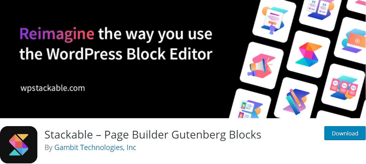 Stackable wordpress plugin