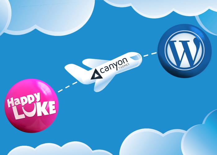 HappyLuke Migrated to WordPress with CanyonThemes