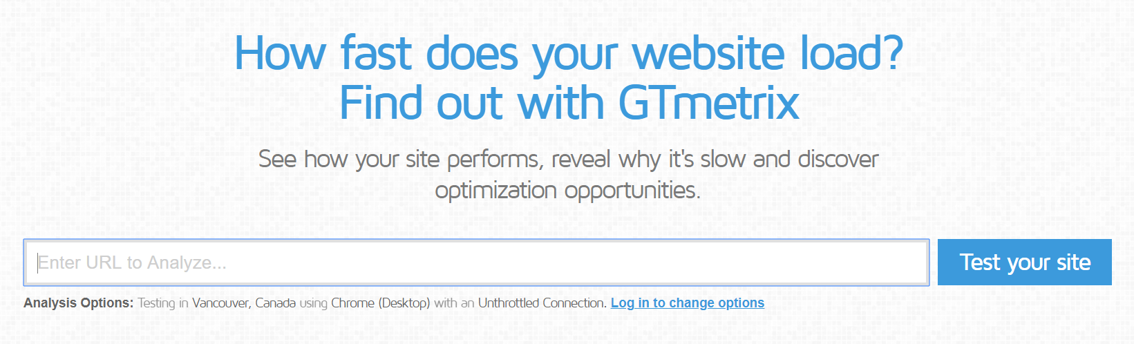 GTmetrix site performance tool